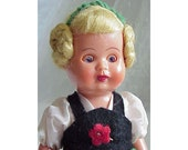 Vintage German Doll Hard Plastic
