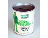 Green Giant Sweet Peas Tin Can Bank