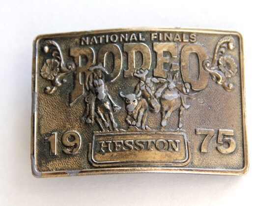 1975 Hesston Nfr Belt Buckle National Finals By