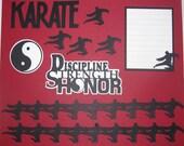 KARATE Scrapbook Border Set, Page Layout / Die Cuts - Premade 12X12