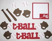 T-BALL Scrapbook Border Set, Page Layout / Die Cuts - Premade 12X12