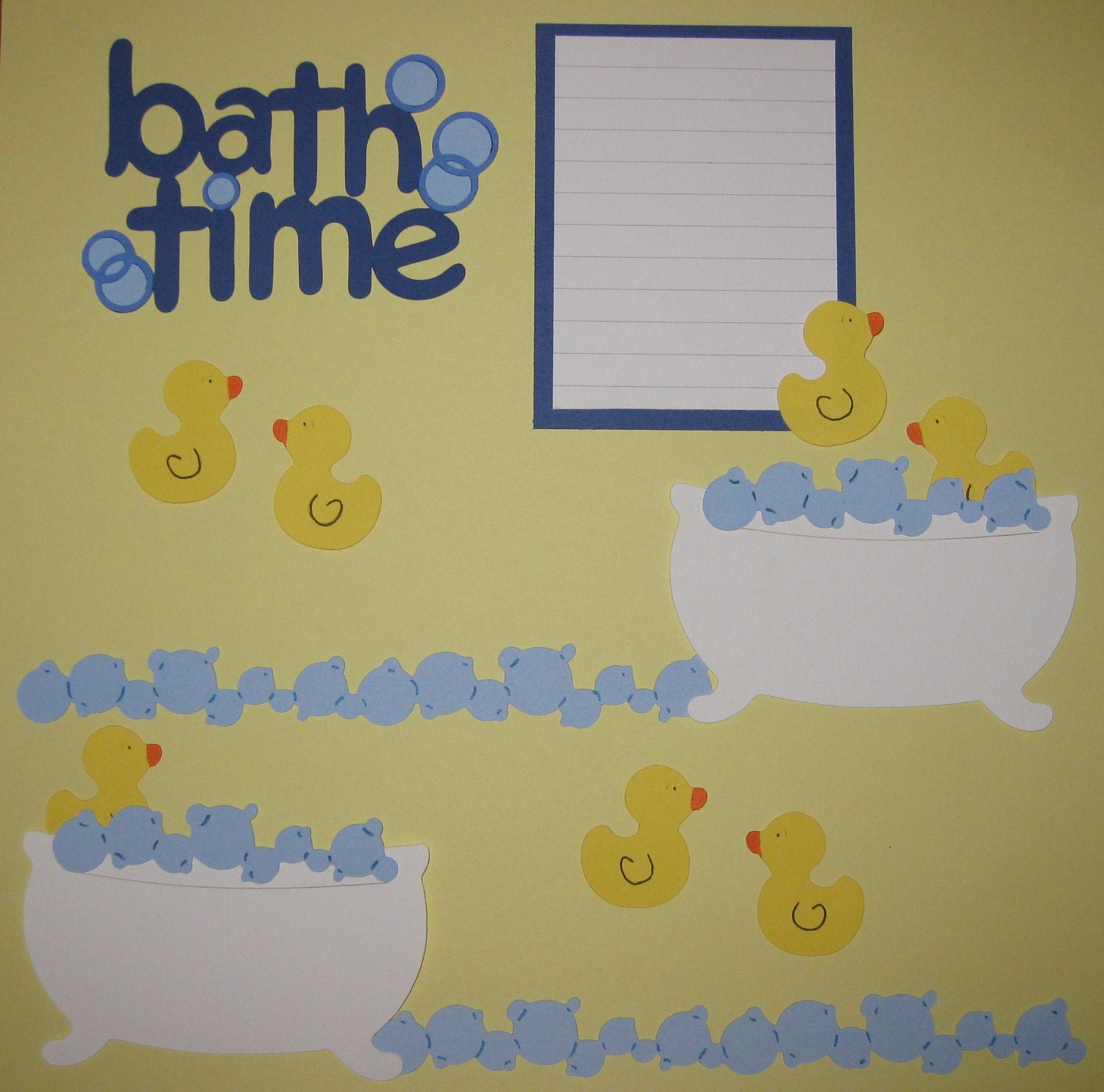BATH TIME Scrapbook Border Set Page Layout / by ScrapbookFaster
