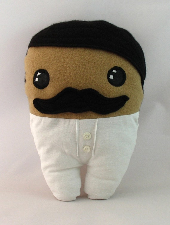 Gunslinger Dude in his Union Suit. Funny plush toy for naughty children and their parents. Hypoallergenic, eco friendly designer toy
