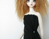 SD13 Strapless gown for SD BJD in black