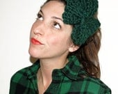 Large Bow Headband in Forest