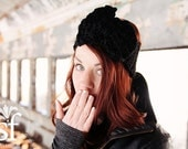 Large Bow Earwarmer in Black