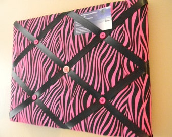 11 x 14 Pink/Black Zebra Memory Board