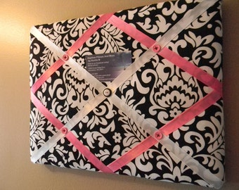 11 x  14 Black Damask Memory Board