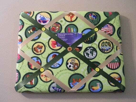 11 x 14 Girl Scout Badge Memory Board