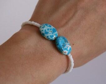 White Bracelet,Cute Bracelet,Friendship Bracelet,Layering Bracelet,Delicate Bracelet,Pretty Bracelet,Bridesmaid Gift,Summer Bracelet