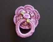 Reborn Elegant Victorian Rose Magnetic Pacifier/Dummy
