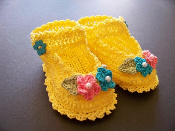 Crochet Newborn/Reborn Mary Jane Booties Newborn