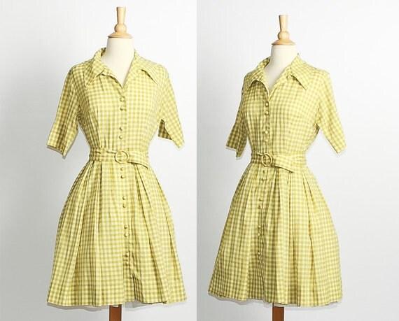 1960s Shirtwaist Dress / on sale