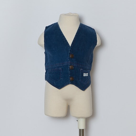 vintage baby corduroy vest / sale