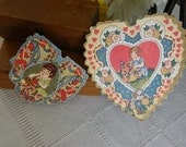 A Pair of Antique Valentines With Multiple Images