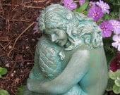 Hand Painted Concrete Stone Garden Statue Mermaid