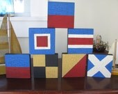 6 Small Nautical Signal Flag  Signs   Initials  Monogram