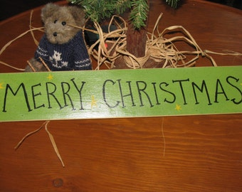 Merry Christmas Primitive Sign