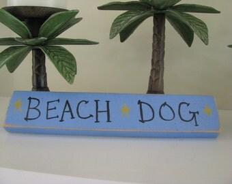 Beach Dog Handpainted Sign