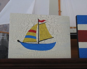Original Sail Boat Sign
