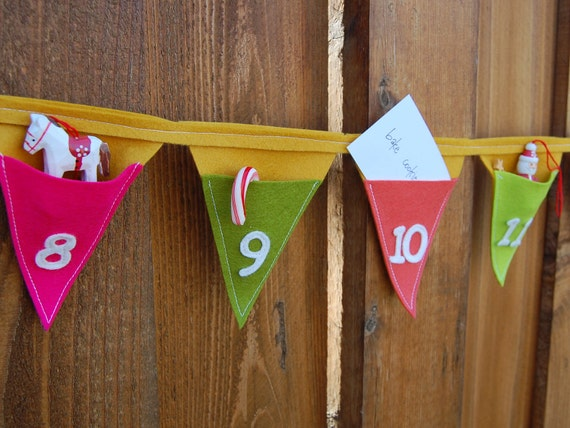 Advent Calendar Pocket Bunting