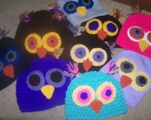 Owl beanie handmade by me  DESIGNED by YOU