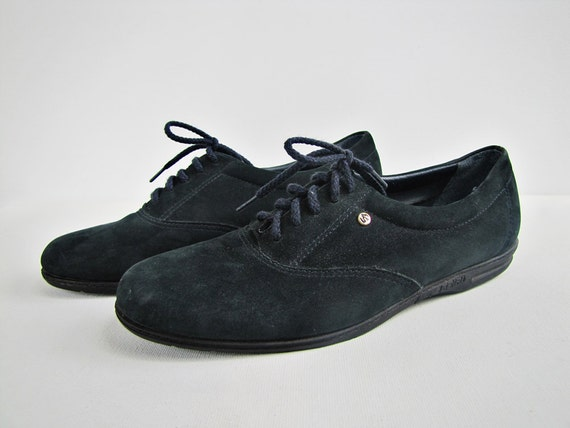 Store-Closing SALE!!  Lovely Vintage Tennis Shoes Dark Teal Flats