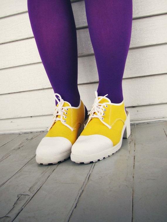 Yellow Women's Shoes Slingback Heels