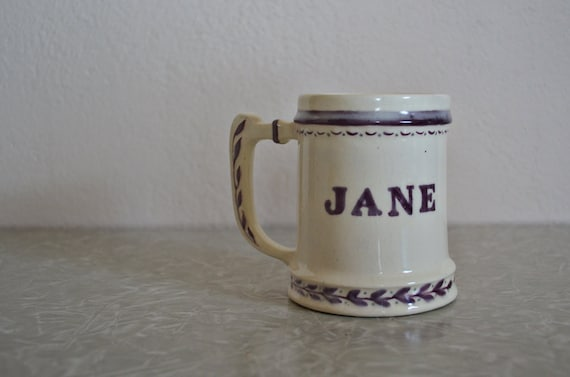 "Gorgeous Vintage ""Jane 1952"" Coffee Cup"