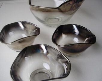 Silver Ombre Salad Bowl Set