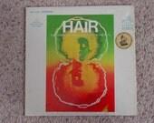 Vintage 1968  Vinyl LP  Hair The American Tribal Love Rock Musical