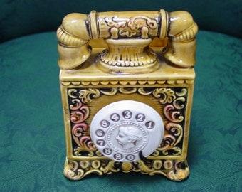 Vintage Phone Style Ceramic Planter by Enesco Japan