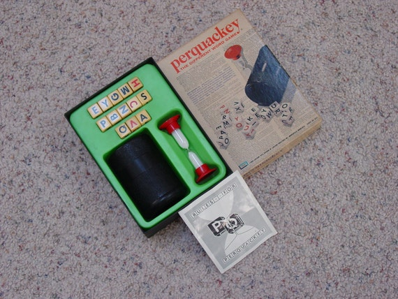"Vintage 1969 Edition "" Perquackey "" Word Game by Lakeside Toys"