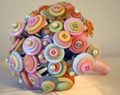 Purely Pastel Button Bouquet