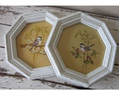 Vintage Framed prints - SALE - Home decor - Retro wall decor - Shabby and chic