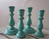 Candle holders - Wooden candle sticks - Cottage chic - Shabby and chic - farmhouse- rustic wedding - home decor