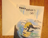 Racoon or cat or squirrel Father's Day card