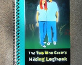 Notebook with color drawing of my dad and I on the cover