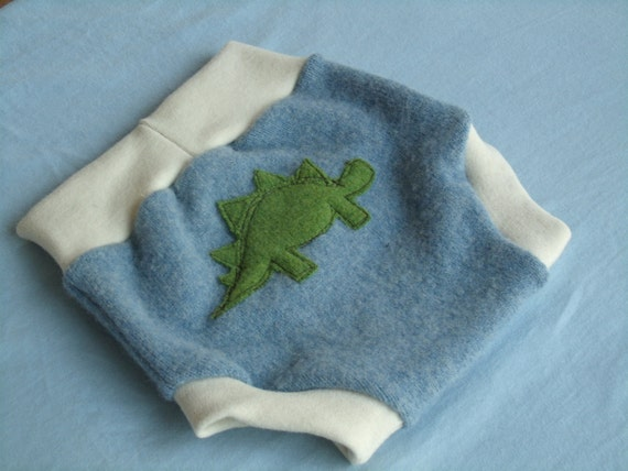 Recycled Wool Dino Soaker- Large