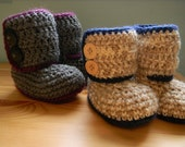 RESERVED BFF Button Boots 3-6 months and 6-12 months
