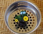 Green Tractor Drain Plug  Stainless Steel Kitchen Sink Strainer Stopper.. Check out our SINK FULL Of THEMES.