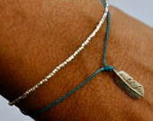 Silver Beads bracelet. Delicate - pure silver