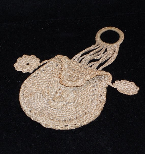 Vintage Crocheted Coin Purse Sachet Bags and by VintageMaryEllen