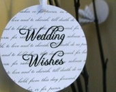 25 Wedding wish tags with traditional vows background- custom colors available
