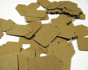 50 MINI- blank kraft cardstock tags