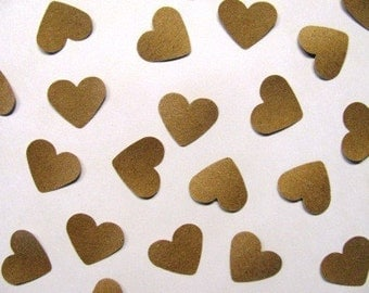 kraft paper- 1 inch hearts- 500 count