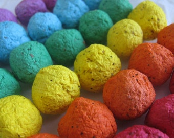 50 Rainbow seed bombs- 6 color combo