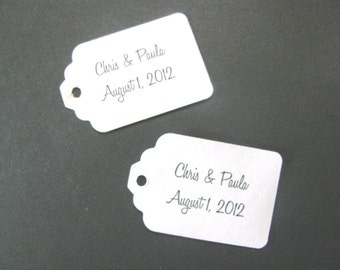 40 Personalized text Medium size tag- your choice font and card stock color