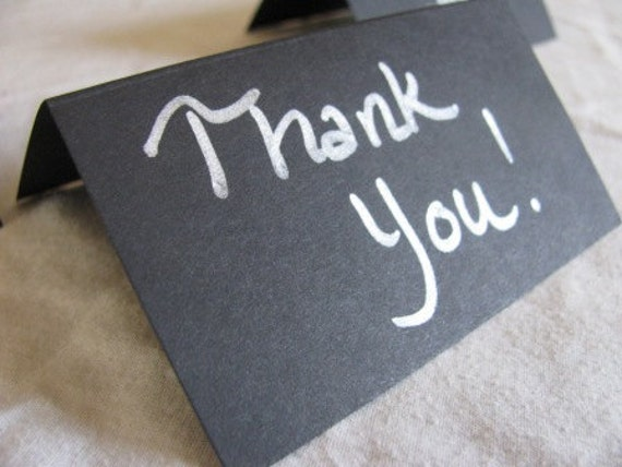 SET OF 150- Blank Black escort place cards- FREE silver marker with this set