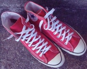 Converse All Stars Chuck Taylor Red High Top Sneakers Vintage USA Mens